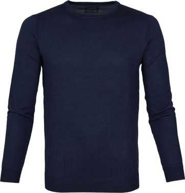 Suitable Pullover Merino Rick Navy