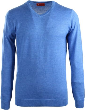 Suitable Pullover Merino Wol Blauw