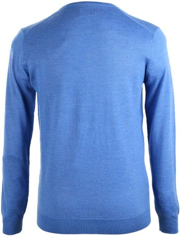 Detail Suitable Pullover Merino Wol Blauw
