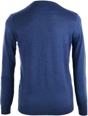Detail Suitable Pullover Merino Wol Indigo Blauw