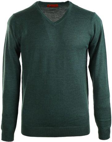 Suitable Pullover Merinowolle Moos Grün