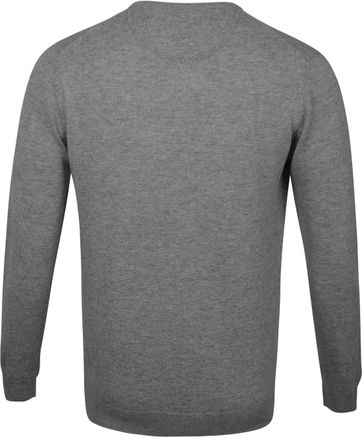Suitable Pullover O-Hals Lamswol Grijs