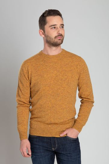 Suitable Pullover O-Hals Lamswol Oker