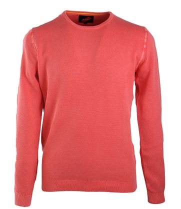Suitable Pullover O-Neck Coral Red