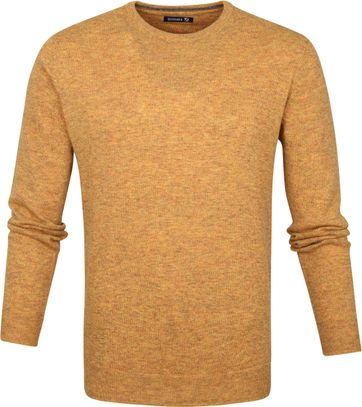 Suitable Pullover O-Neck Lambswool Ocher