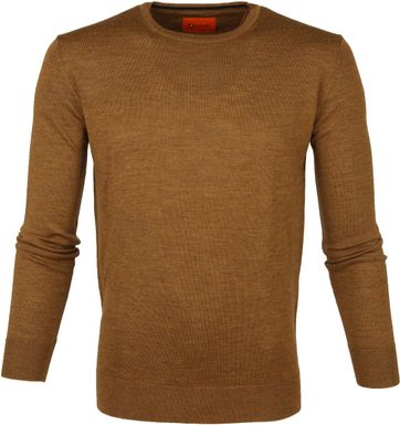 Suitable Pullover O-neck Ocre Brown