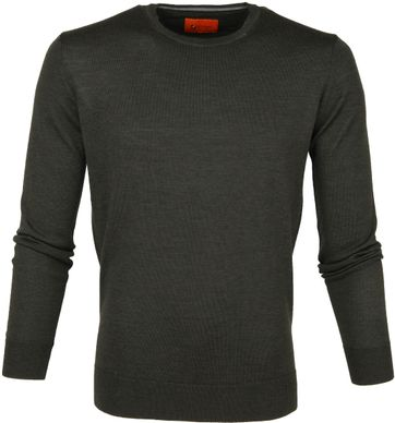 Suitable Pullover O-neck Olive
