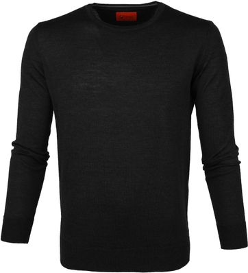 Suitable Pullover O-neck Schwarz