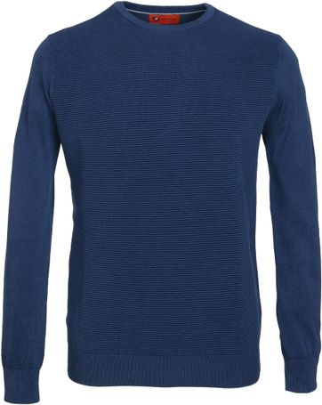 Suitable Pullover Ottoman Dunkelblau