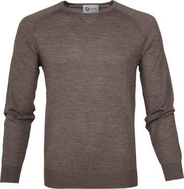 Suitable Pullover Prestige Merino Lichtbruin