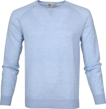 Suitable Pullover Prestige Merino Light Blue
