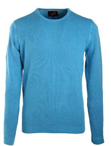 Suitable Pullover Rundhals Aqua Blau