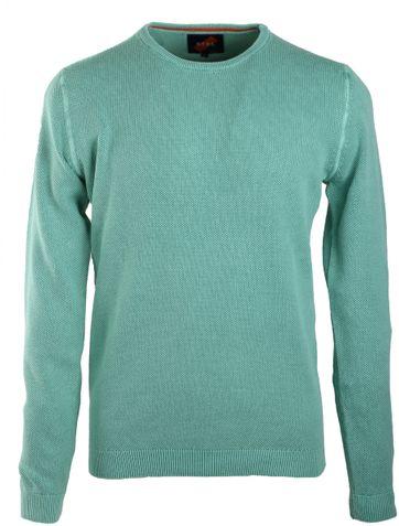 Suitable Pullover Rundhals Grün