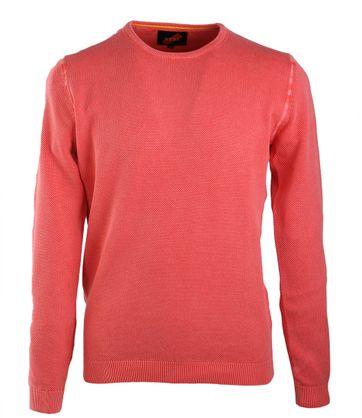 Suitable Pullover Rundhals Koralle
