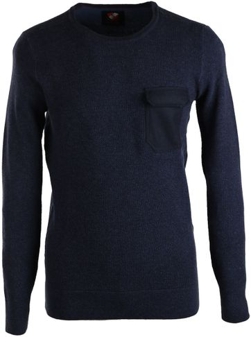 Suitable Pullover Ruud O-Neck Navy