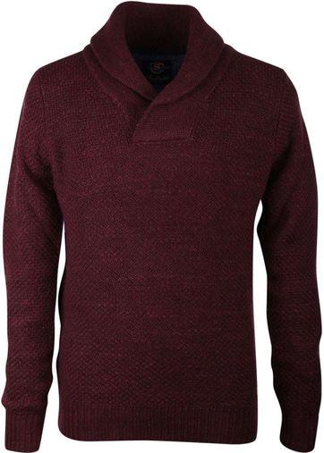 Suitable Pullover Shawl Bordeaux