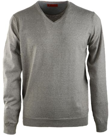 Suitable Pullover V-Neck Green
