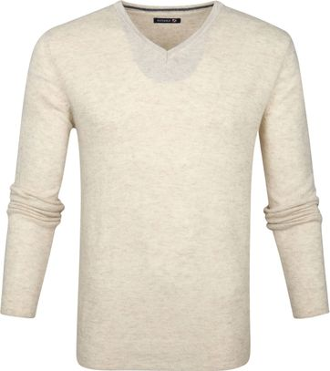 Suitable Pullover V-Neck Lambswool Beige