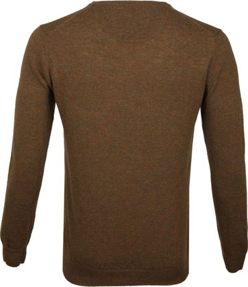 Suitable Pullover V-Neck Lambswool Brown