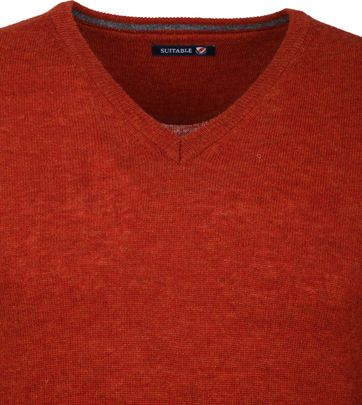 Suitable Pullover V-Neck Lambswool Orange