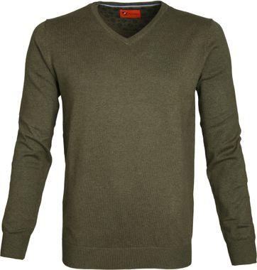Suitable Pullover Vince Armeegrün