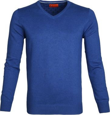 Suitable Pullover Vince Cobalt Blue