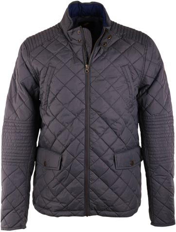 Suitable Quilted Jacket Light Grey