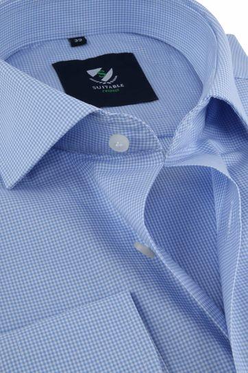 Suitable Respect Hemd Ruit Blauw