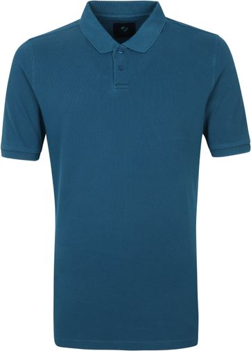 Suitable Respect Pete Polo Indigo Blauw