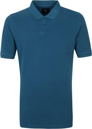 Suitable Respect Pete Polo Shirt Indigo Blau
