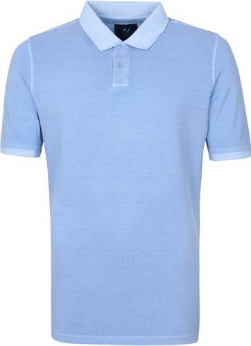 Suitable Respect Pete Polo Shirt Mid Blue