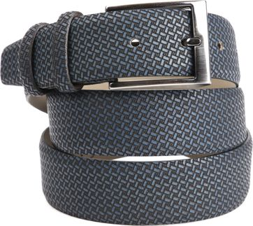 Suitable Riem Leer Navy