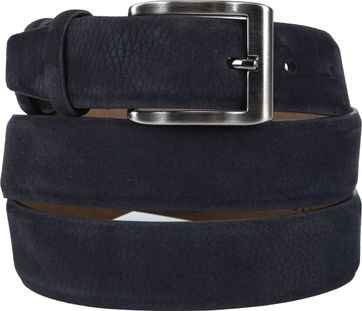 Suitable Riem Suede Donkerblauw