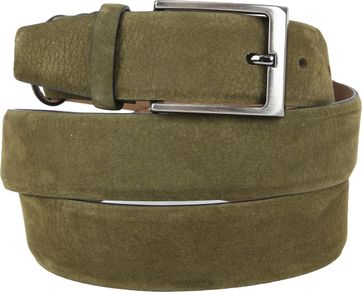 Suitable Riem Suede Donkergroen