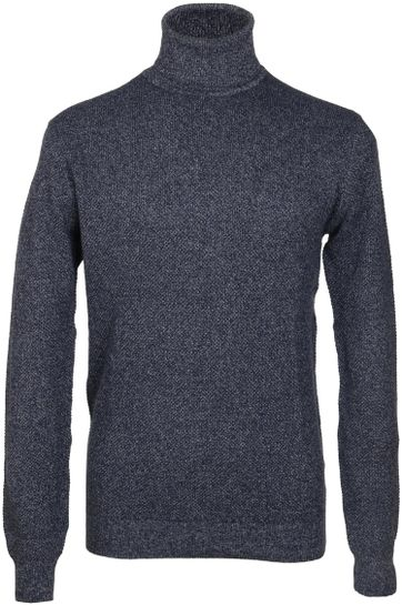 Suitable Rollkragenpullover Baumwolle Blau