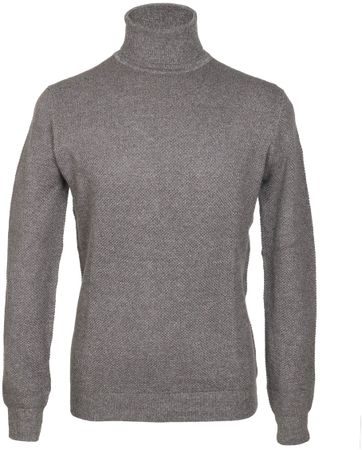 Suitable Rollkragenpullover Baumwolle Grau