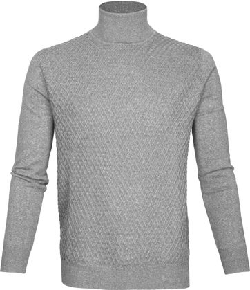 Suitable Rollkragenpullover Diamant Grau