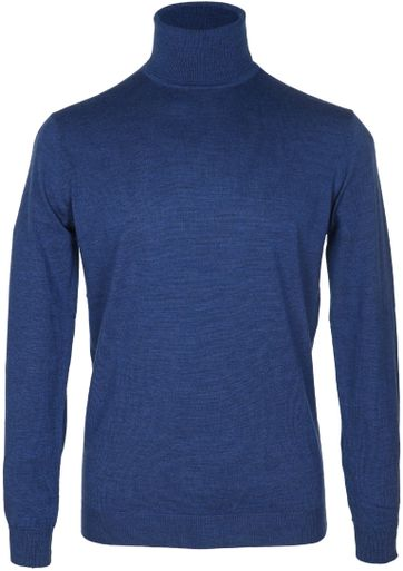 Suitable Rollkragenpullover Wolle Blau