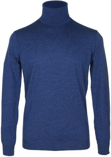 Suitable Rollkragenpullover Wolle Blau