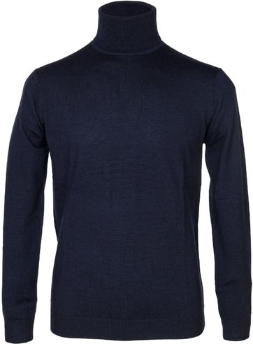 Suitable Rollkragenpullover Wolle Navy