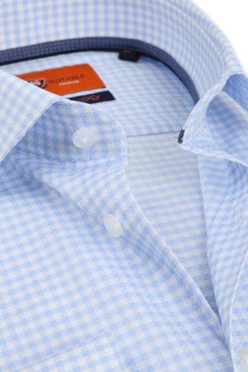 Suitable Ruiten Blauw Hemd