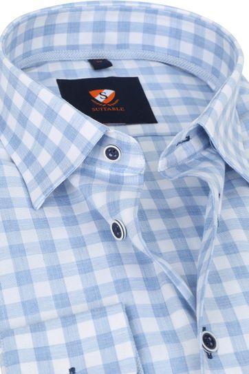 Suitable Shirt 227-9 Pane Blue