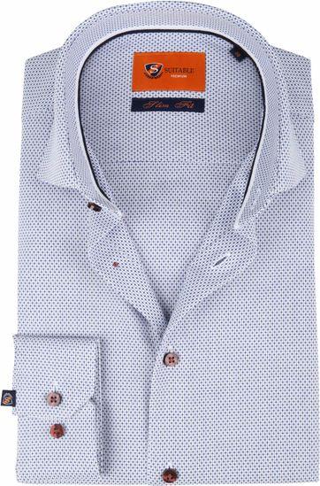Suitable Shirt Blue Dessin D82-20