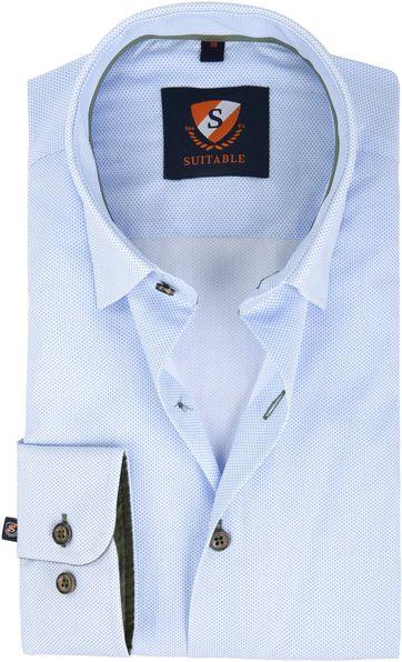 Suitable Shirt Blue Pattern