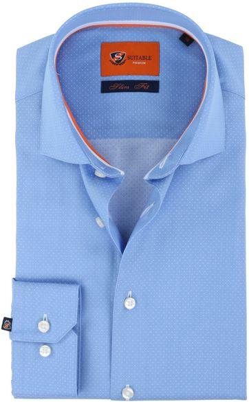 Suitable Shirt Blue Pinpoint
