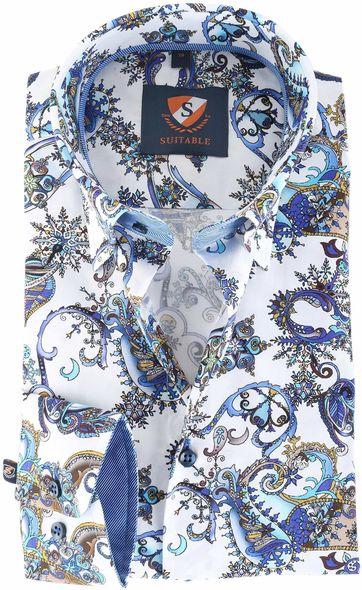 Suitable Shirt Blue Print 145-5