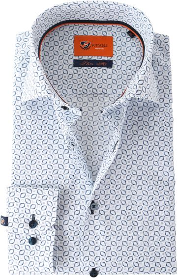 Suitable Shirt Blue Print White Wire