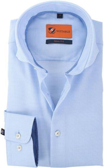 Suitable Shirt Blue White 146-4