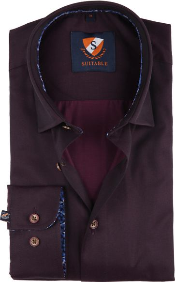 Suitable Shirt Bordeaux 188-5