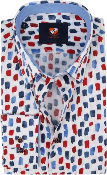 Suitable Shirt Brush Strokes Blue Red